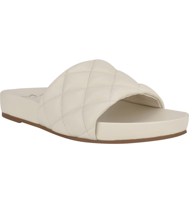 MARC FISHER LTD Imenal Slide Sandal, Main, color, CHIC CREAM LEATHER