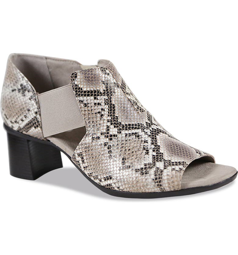 MUNRO Sable Sandal, Main, color, NUDE SNAKE PRINT LEATHER