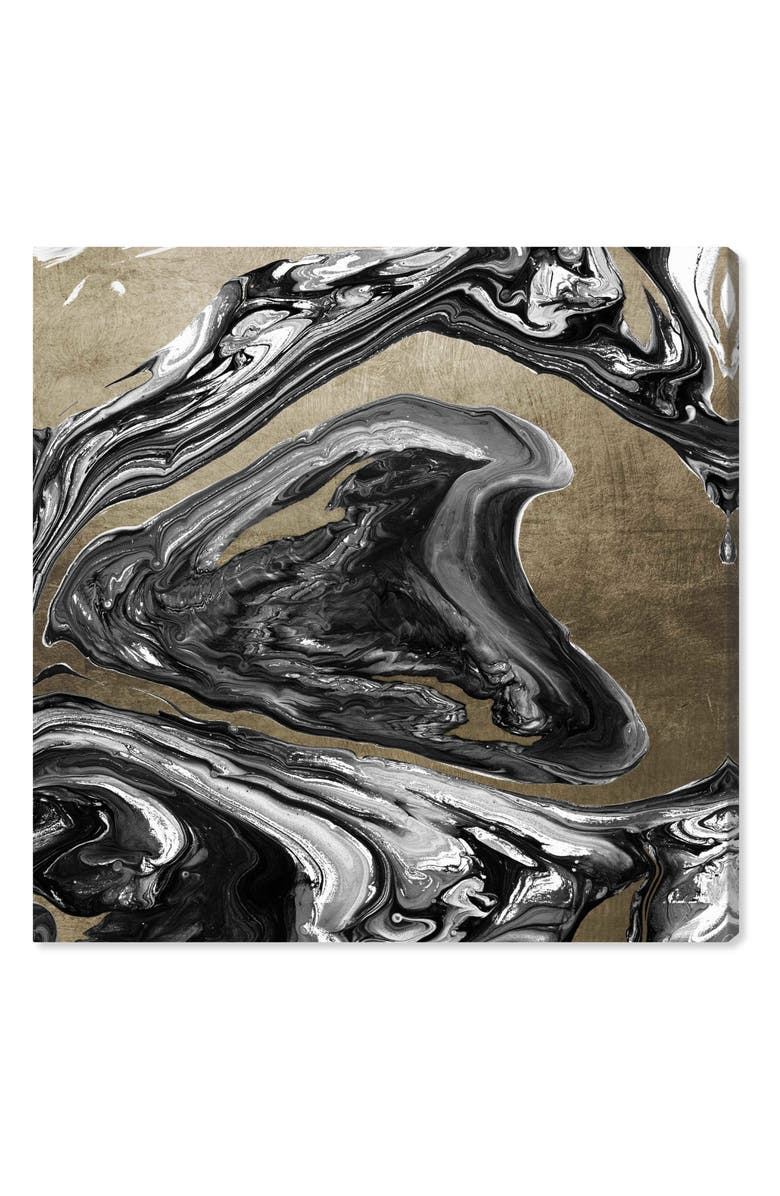 OLIVER GAL Agate Luxe Champagne Canvas Wall Art, Main, color, 710