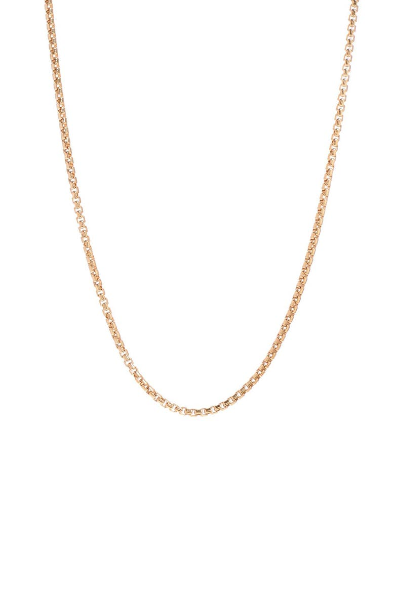 DEGS & SAL Box Chain Necklace, Main, color, Gold