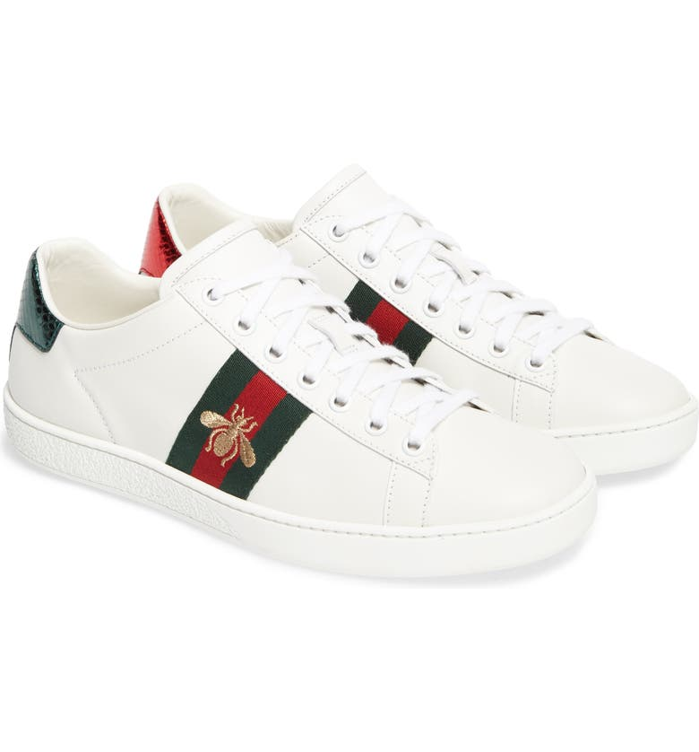 GUCCI New Ace Sneaker, Main, color, BIANCO-VRV