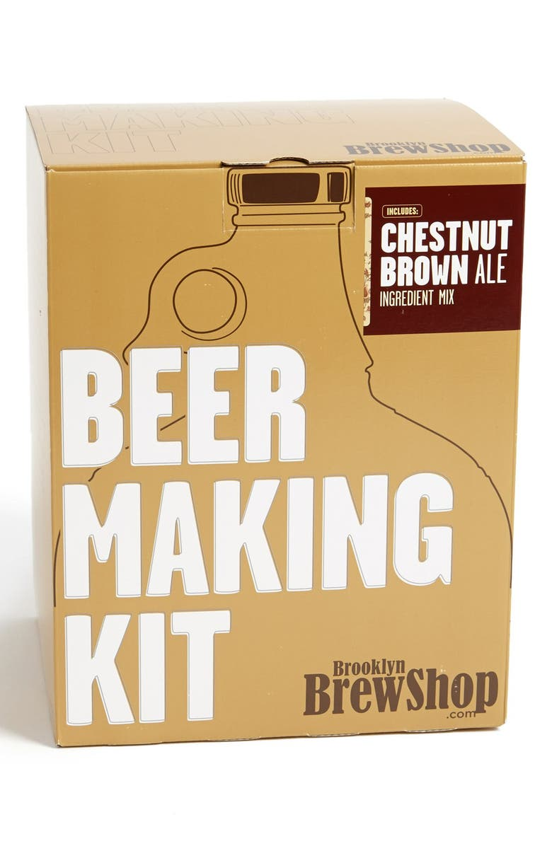 BROOKLYN BREW SHOP 'Chestnut Brown Ale' One Gallon Beer Making Kit, Main, color, Brown