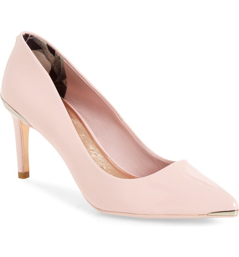 TED BAKER LONDON Wishrr Pointed Toe Pump, Main, color, LIGHT PINK PATENT LEATHER