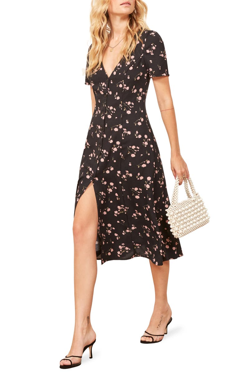 REFORMATION Locklin Dress, Main, color, 001