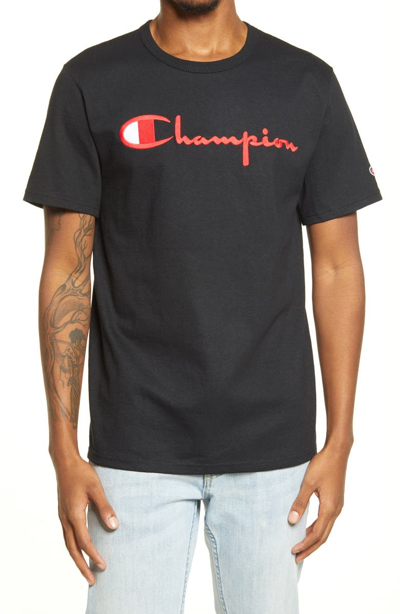 CHAMPION Heritage Graphic Tee, Main, color, BLACK