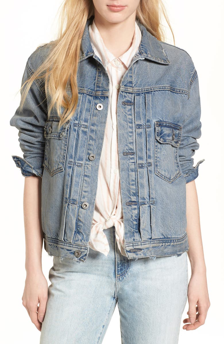 AG Cassie Denim Jacket, Main, color, 400
