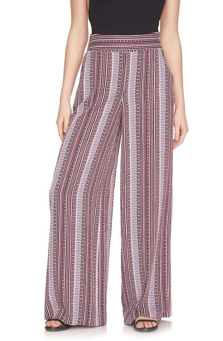 1.STATE Flat Front Wide Leg Pants, Main, color, PLUM BERRY