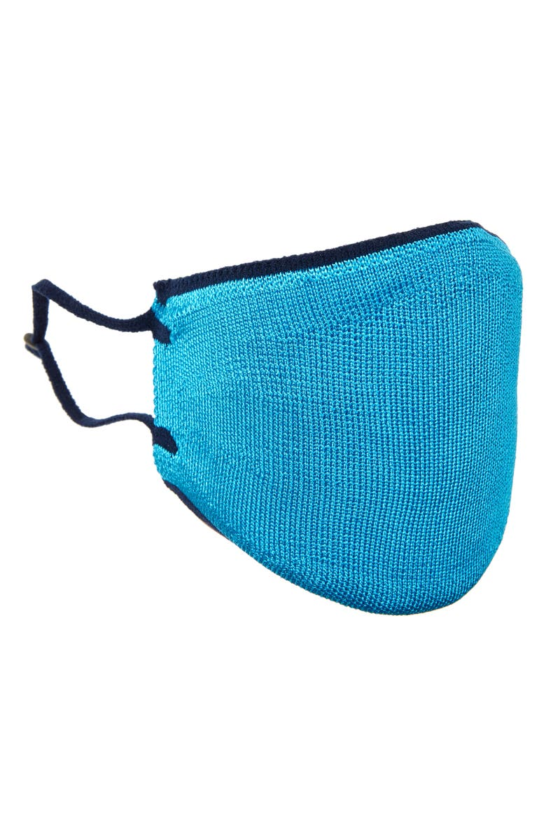 ST. JOHN COLLECTION Artisinal Tweed Adult Face Mask, Main, color, BLUE