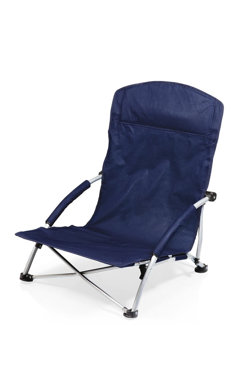 PICNIC TIME Navy Tranquility Beach Chair, Main, color, NAVY