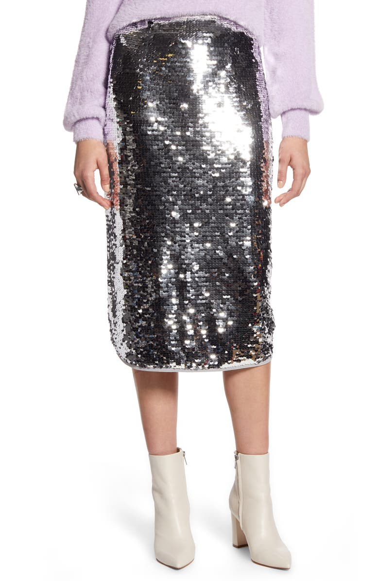 HALOGEN<SUP>®</SUP> Sequin Skirt, Main, color, 040