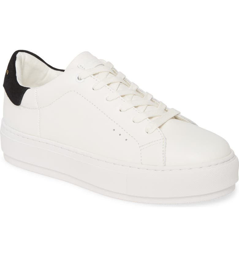 KURT GEIGER LONDON Laney Sneaker, Main, color, WHITE/ BLACK LEATHER