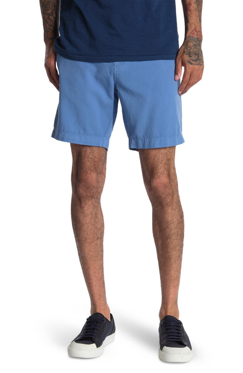 FAHERTY BRAND Faherty Cloud Cotton Harbor Flat Front Shorts, Main, color, FADED COBALT