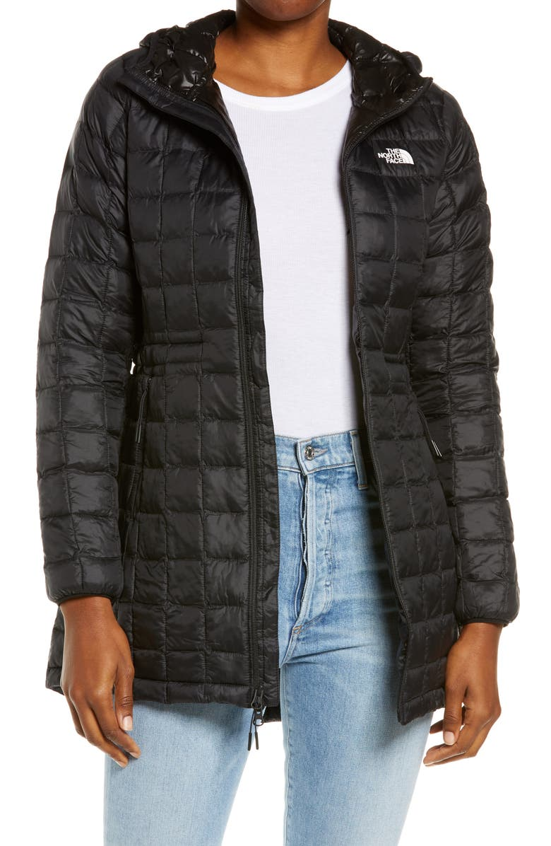 THE NORTH FACE ThermoBall<sup>™</sup> Eco Hooded Parka, Main, color, TNF BLACK