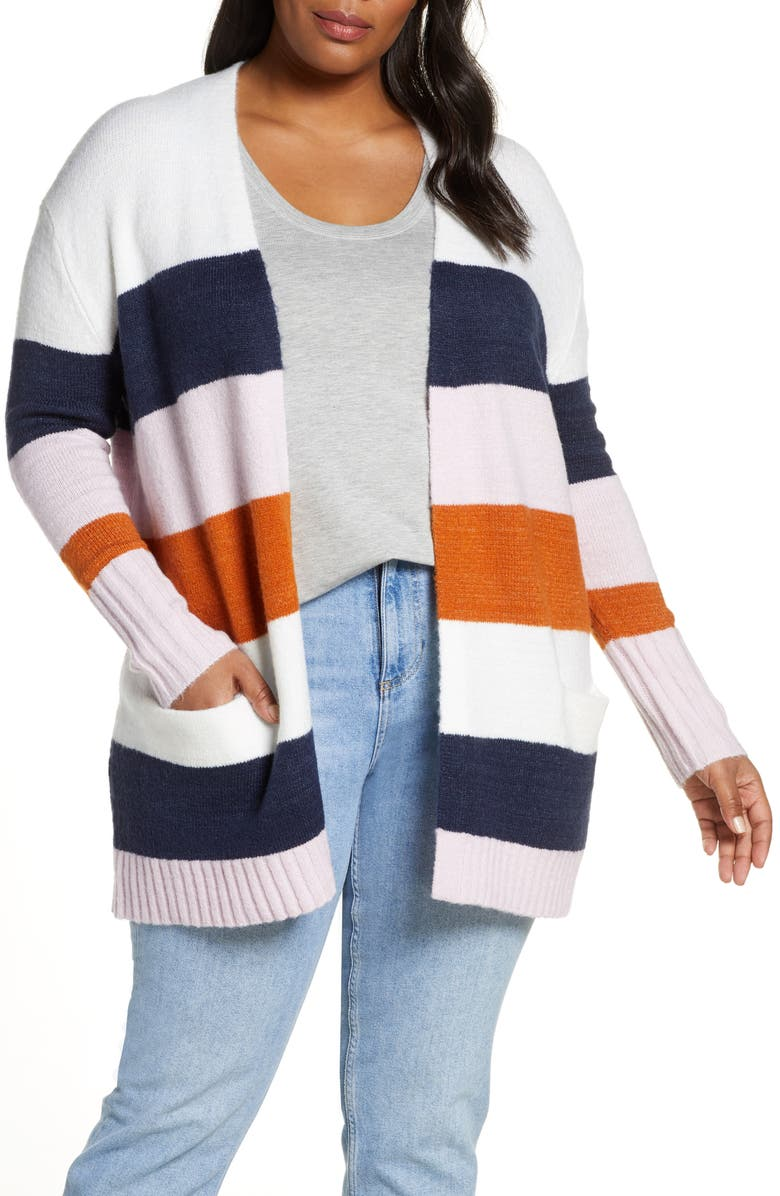 CASLON<SUP>®</SUP> Stripe Cardigan, Main, color, 661