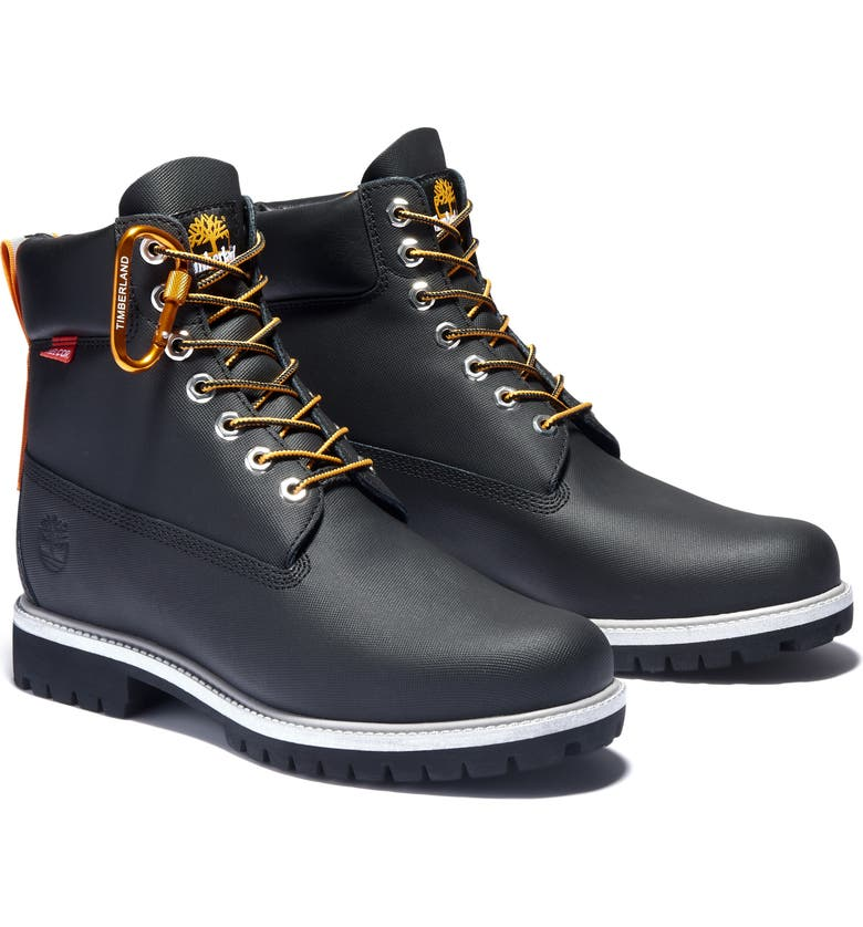 TIMBERLAND 6 Inch Premium Waterproof Boot, Main, color, BLACK HELCOR LEATHER