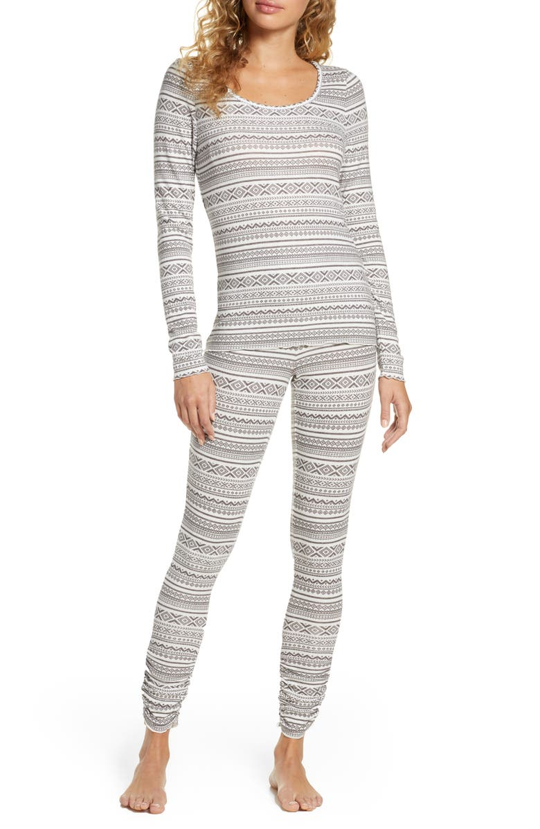 BP. Hacci Fitted Pajamas, Main, color, 021