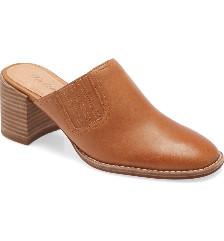 MADEWELL The Carey Mule, Main, color, AMBER BROWN
