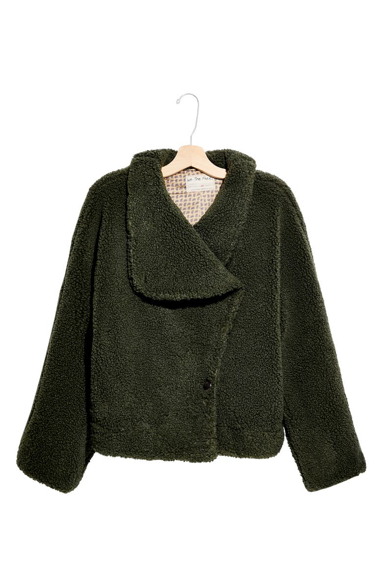 FREE PEOPLE Izzy Wrap Teddy Coat, Main, color, OREGANO