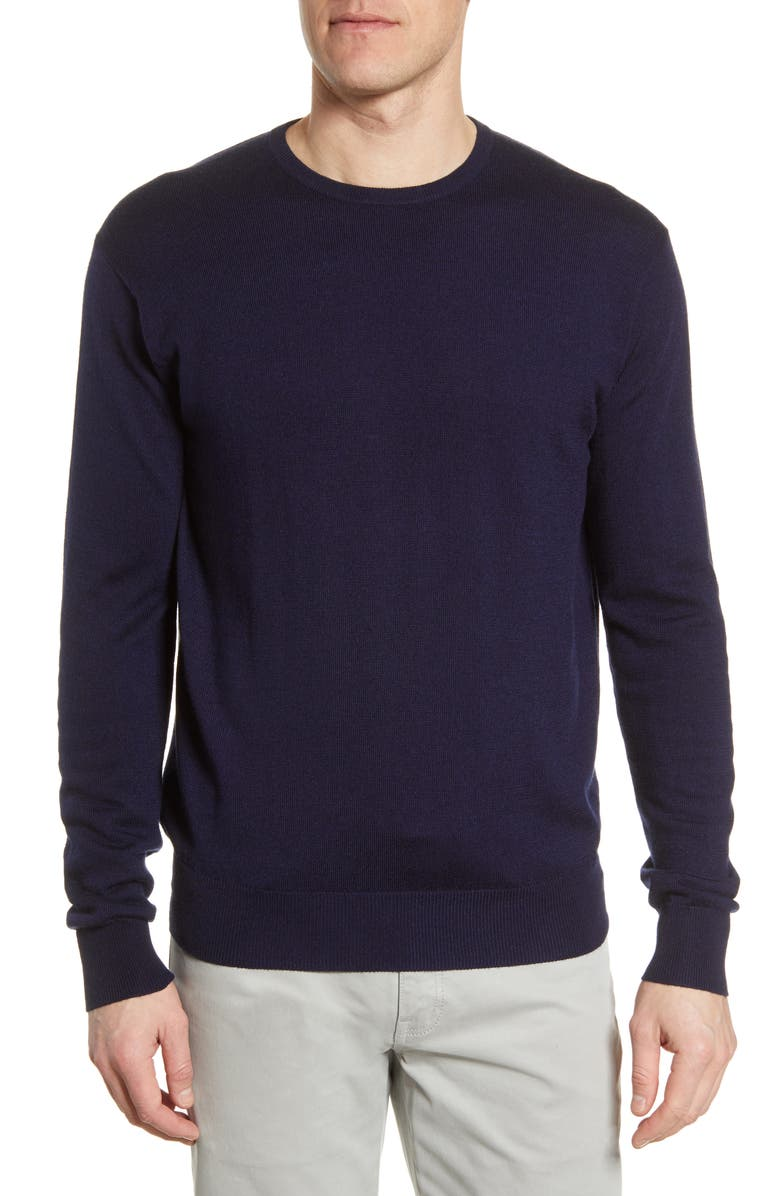 PETER MILLAR Crown Crewneck Sweater, Main, color, NAVY