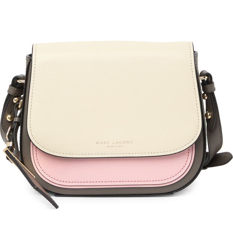 MARC JACOBS Mini Rider Leather Crossbody Bag, Main, color, BUNGEE CORD MULTI