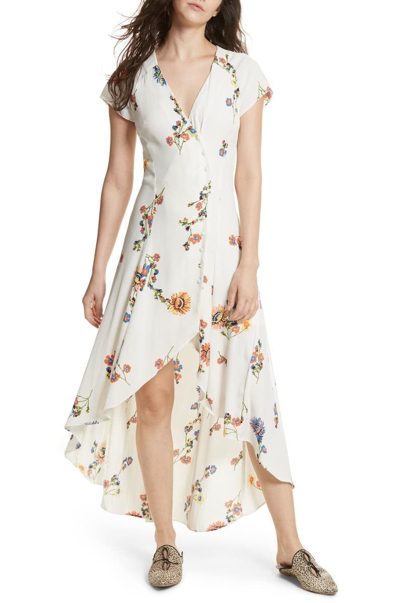 FREE PEOPLE Lost in You Midi Dress, Main, color, 100