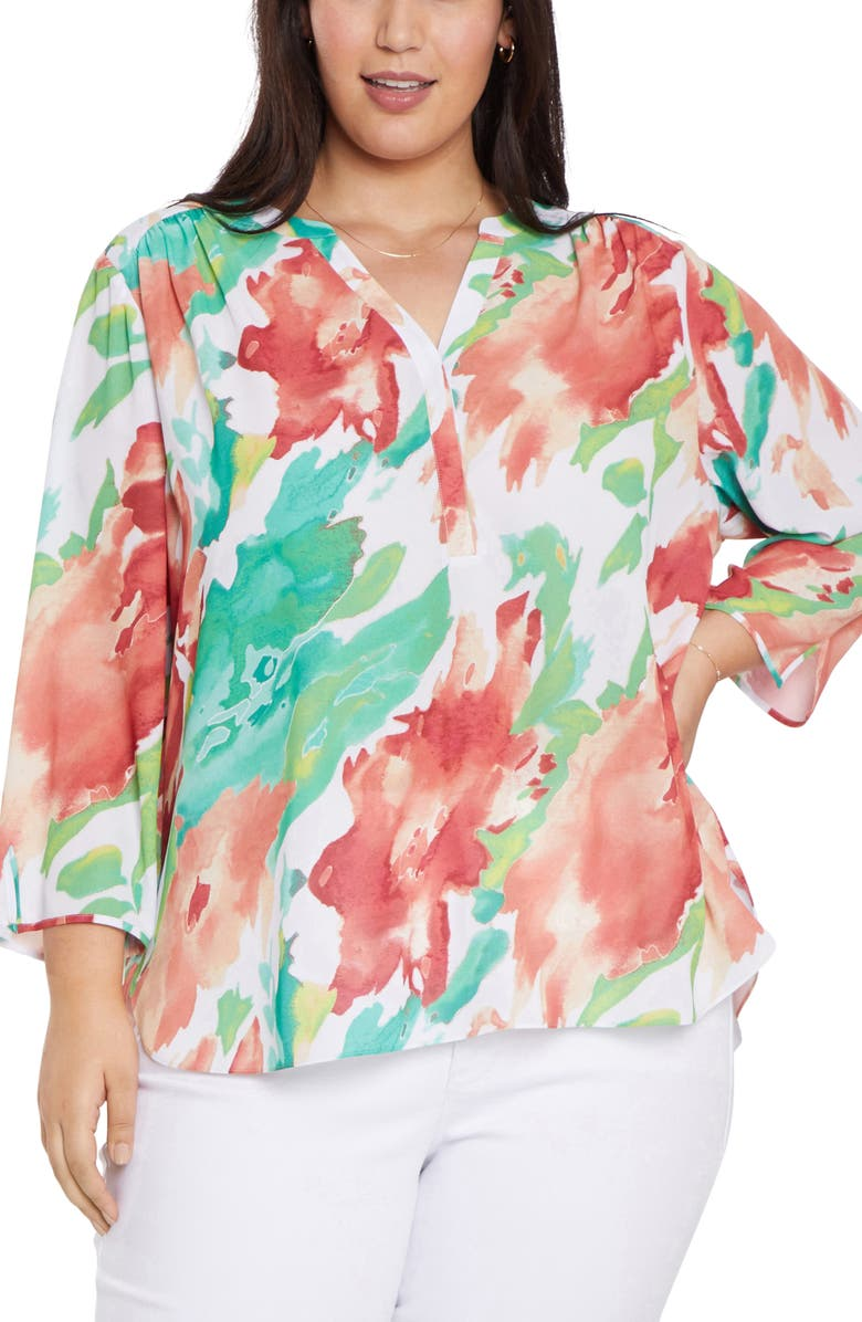 CURVES 360 BY NYDJ Perfect Blouse, Main, color, SUMMER TIDE