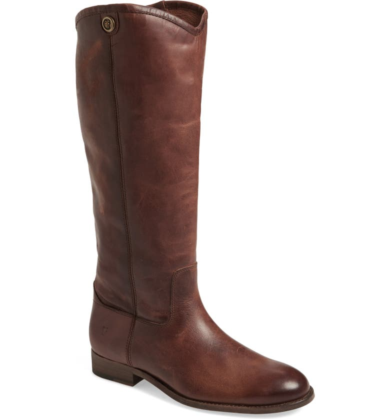 FRYE Melissa Button 2 Knee High Boot, Main, color, COGNAC LEATHER