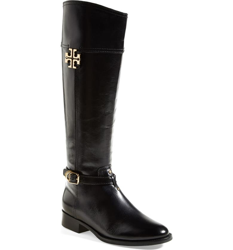 TORY BURCH 'Eloise' Riding Boot, Main, color, 001