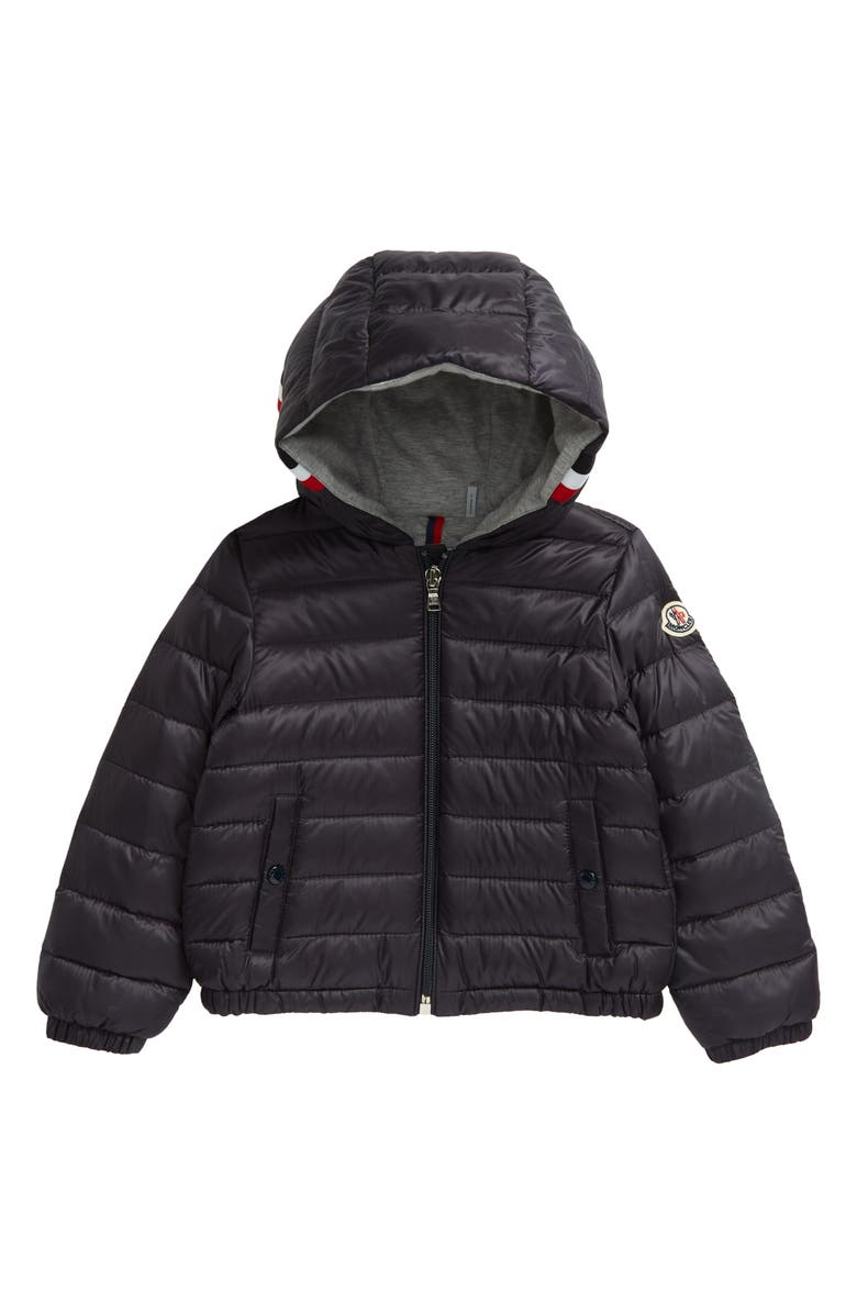 MONCLER Kids' Gaddy Logo Hooded Down Puffer Jacket, Main, color, NAVY