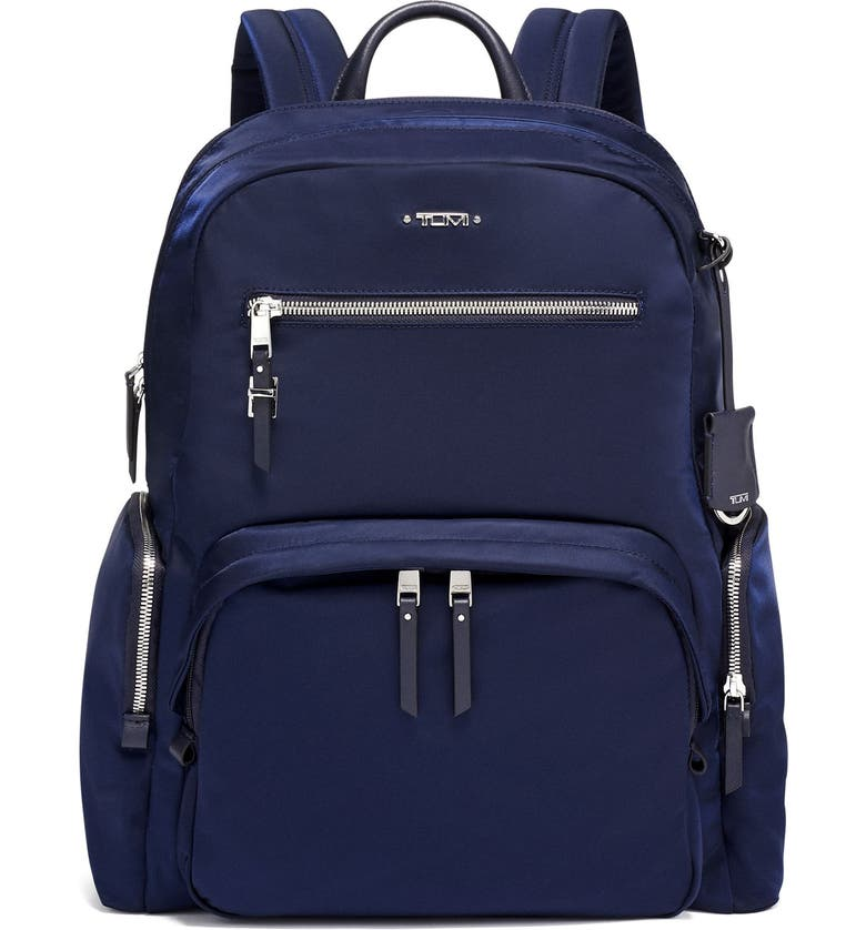TUMI Voyager Carson Nylon Backpack, Main, color, INDIGO