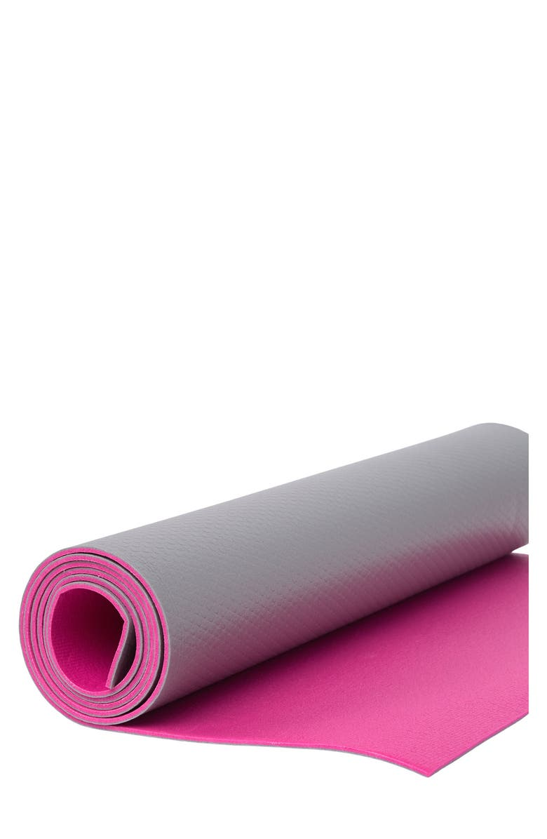EDX 4mm Two-Tone Yoga Mat, Main, color, PINK