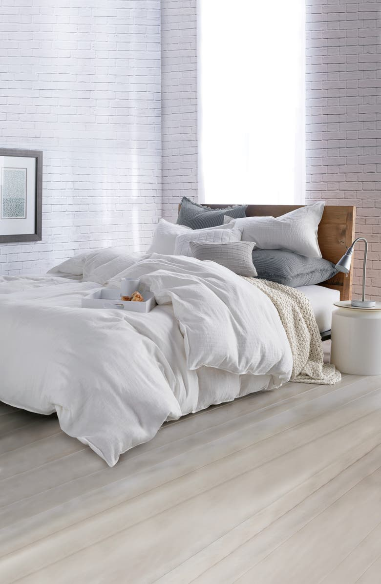 DKNY Pure Comfy Comforter & Sham Set, Main, color, WHITE