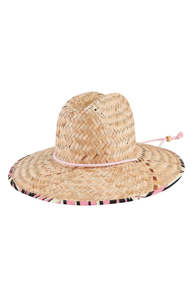 SAN DIEGO HAT Floral Lined Straw Lifeguard Hat, Main, color, 300