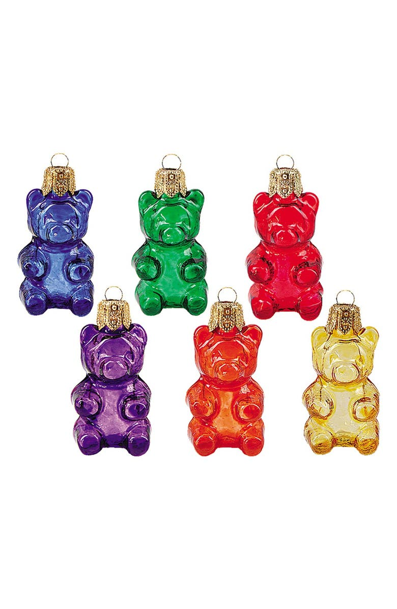 NORDSTROM at Home 'Gummy Bears' Handblown Glass Ornaments, Main, color, 600