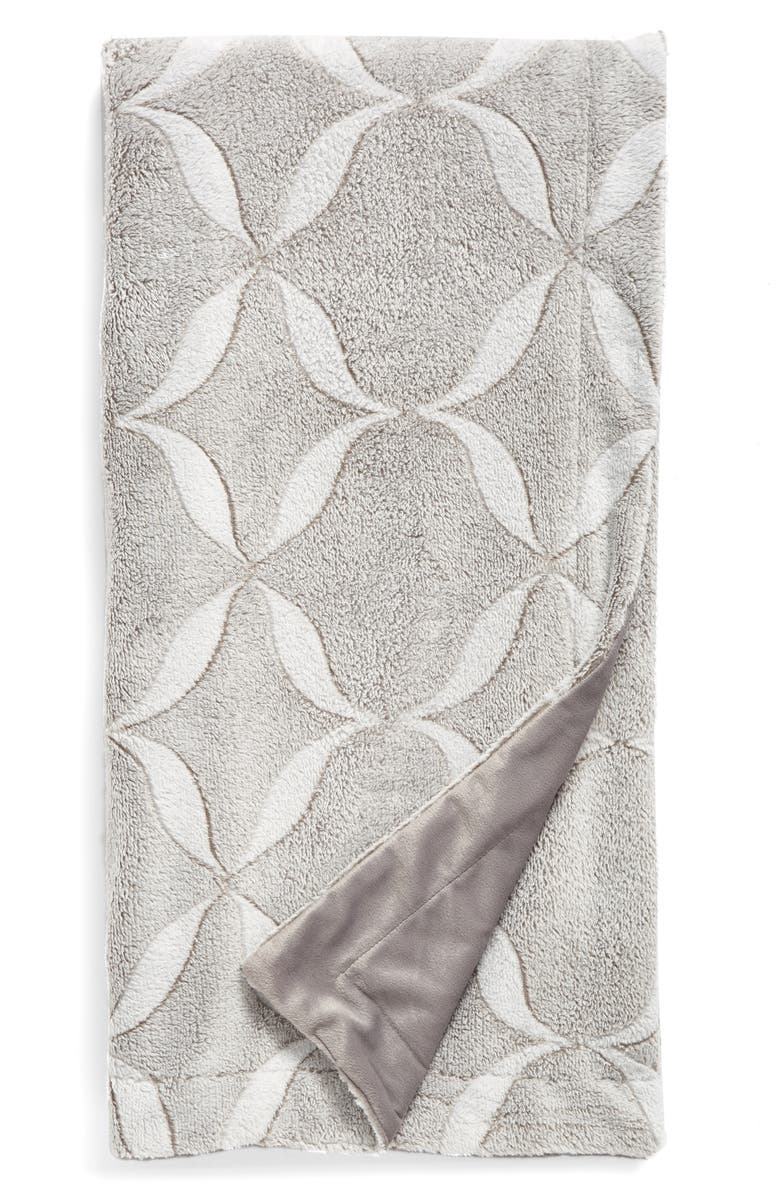 NORDSTROM at Home Jacquard Plush Throw, Main, color, GREY FROST