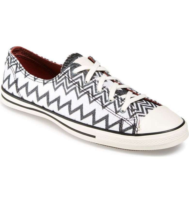 CONVERSE x Missoni Chuck Taylor<sup>®</sup> All Star<sup>®</sup> 'Fancy' Ox Sneaker, Main, color, 001