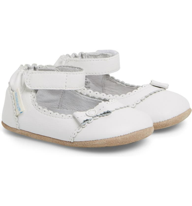 ROBEEZ<SUP>®</SUP> 'Catherine' Crib Shoe, Main, color, 100