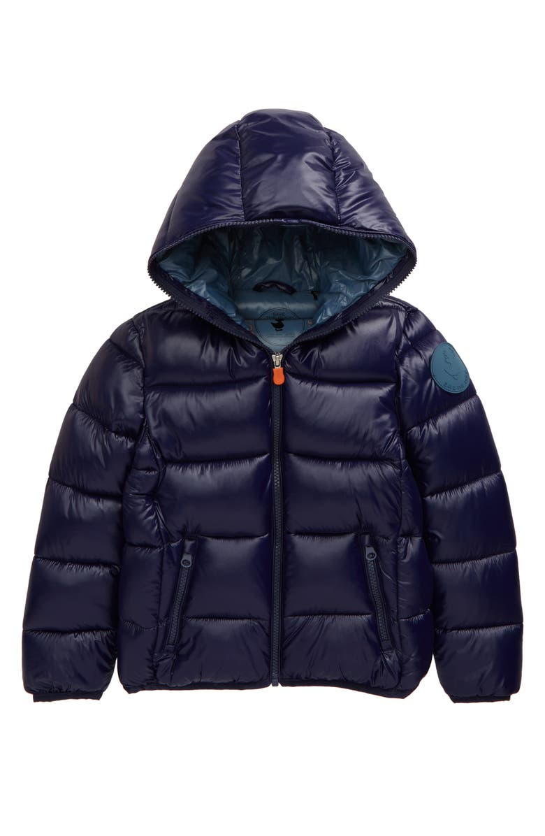 SAVE THE DUCK Shiny Puffer Jacket, Main, color, 414