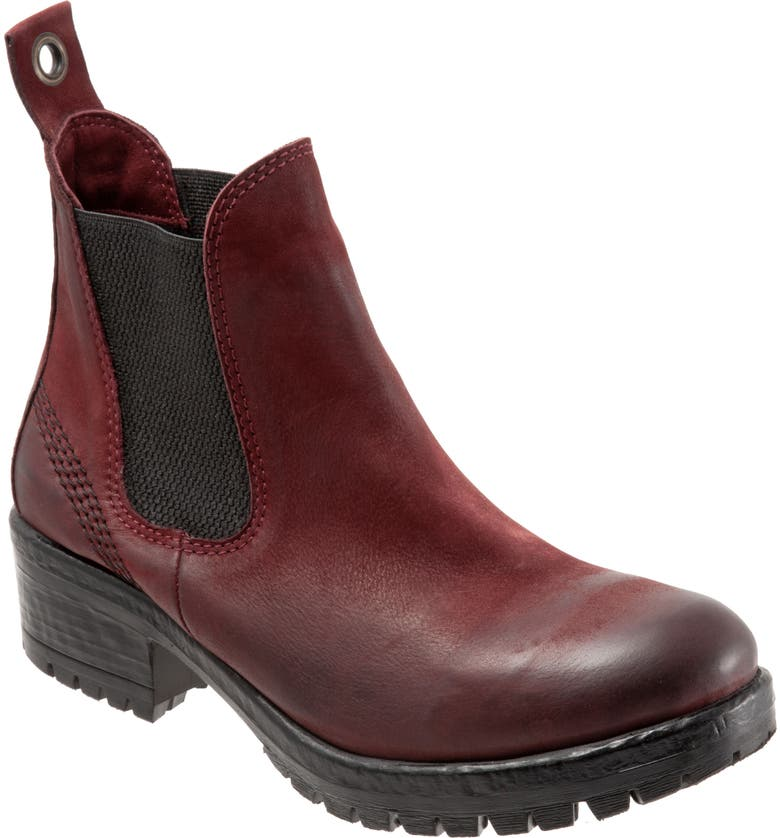 BUENO Florida Chelsea Bootie, Main, color, DARK RED TULIP NUBUCK