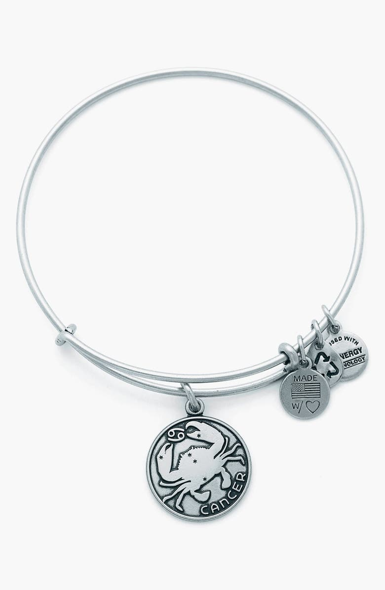 ALEX AND ANI 'Cancer' Adjustable Wire Bangle, Main, color, 040