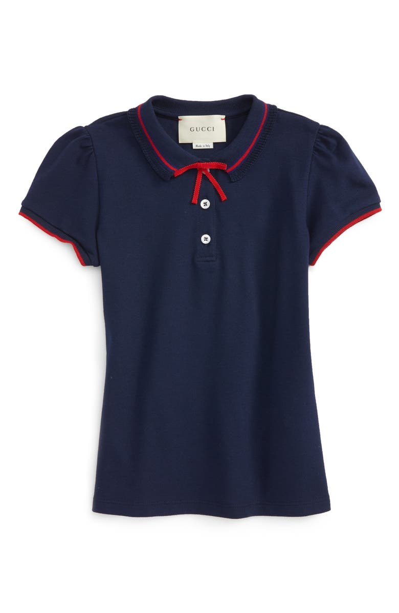 GUCCI Grosgrian Ribbon Polo, Main, color, 493