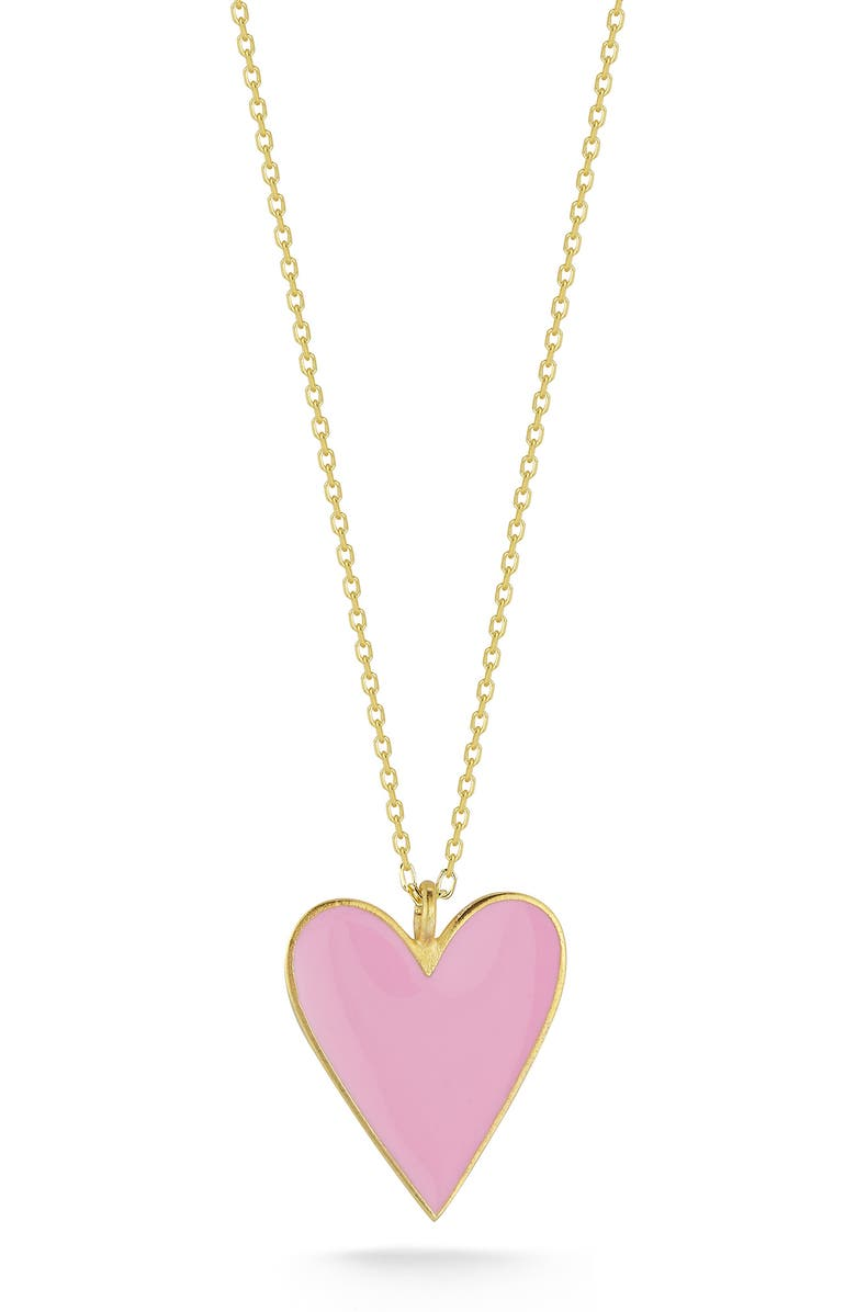 SPHERA MILANO 14K Gold Plated Sterling Silver Heart Pendant Necklace, Main, color, YELLOW GOLD