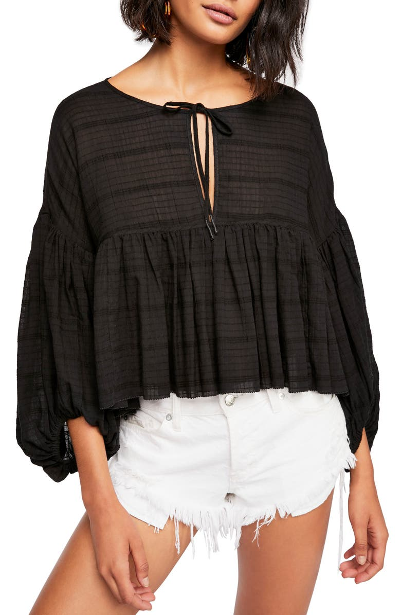 FREE PEOPLE Beaumont Mews Blouse, Main, color, 001