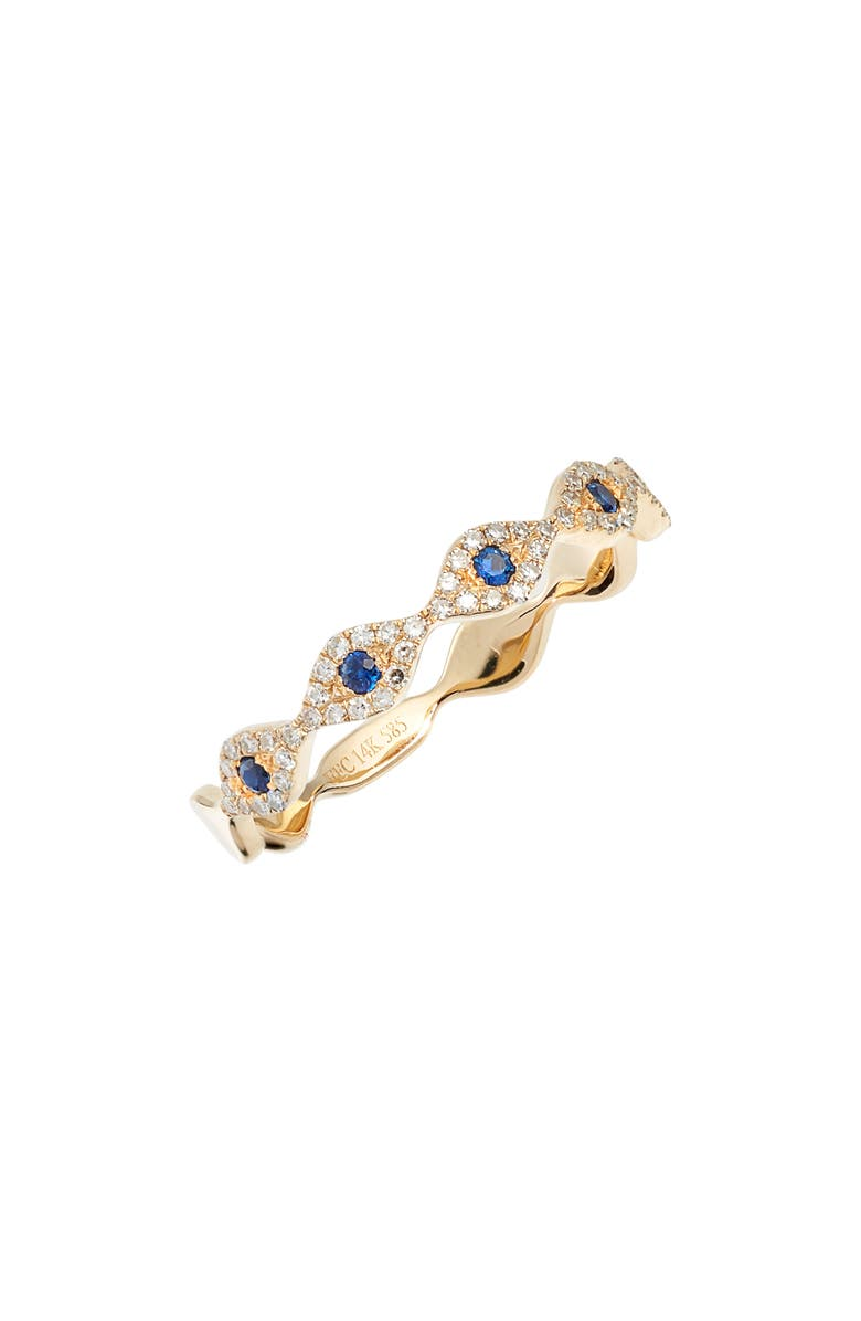 EF COLLECTION Evil Eye Diamond & Sapphire Stack Ring, Main, color, 710