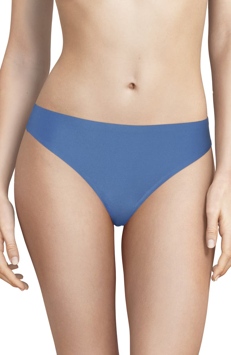 CHANTELLE LINGERIE Soft Stretch Thong, Main, color, NORTHERN BLUE