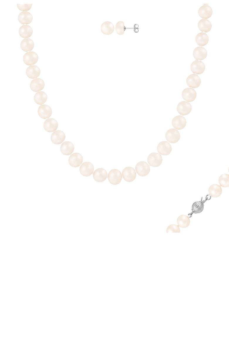 SPLENDID PEARLS 8-8.5mm Cultured Freshwater Pearl 2-Piece Set, Main, color, NATURAL WHITE
