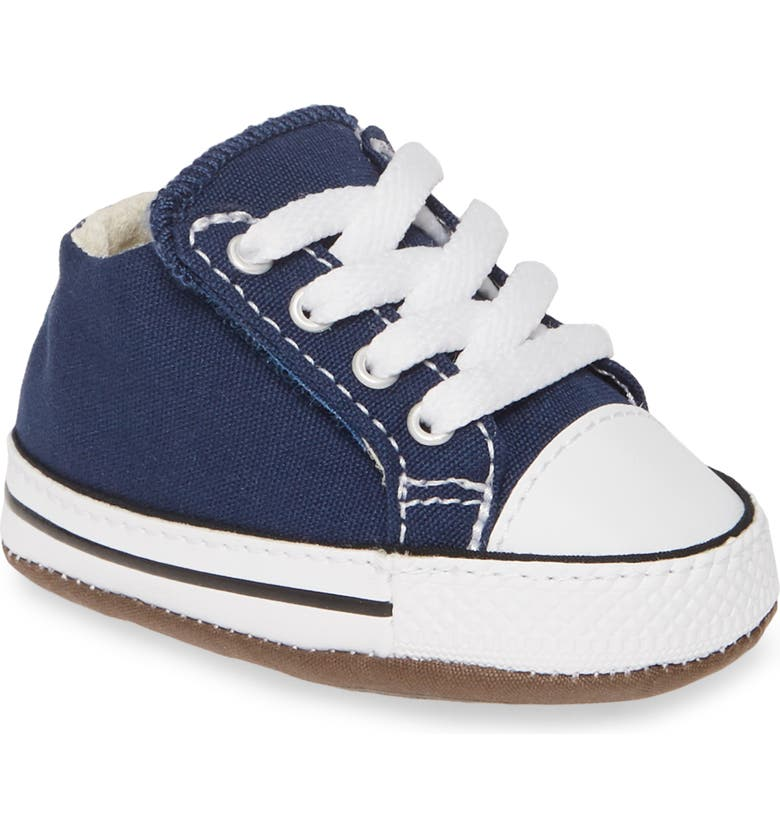 CONVERSE Chuck Taylor<sup>®</sup> All Star<sup>®</sup> Cribster Canvas Crib Shoe, Main, color, NAVY/ NATURAL IVORY/ WHITE