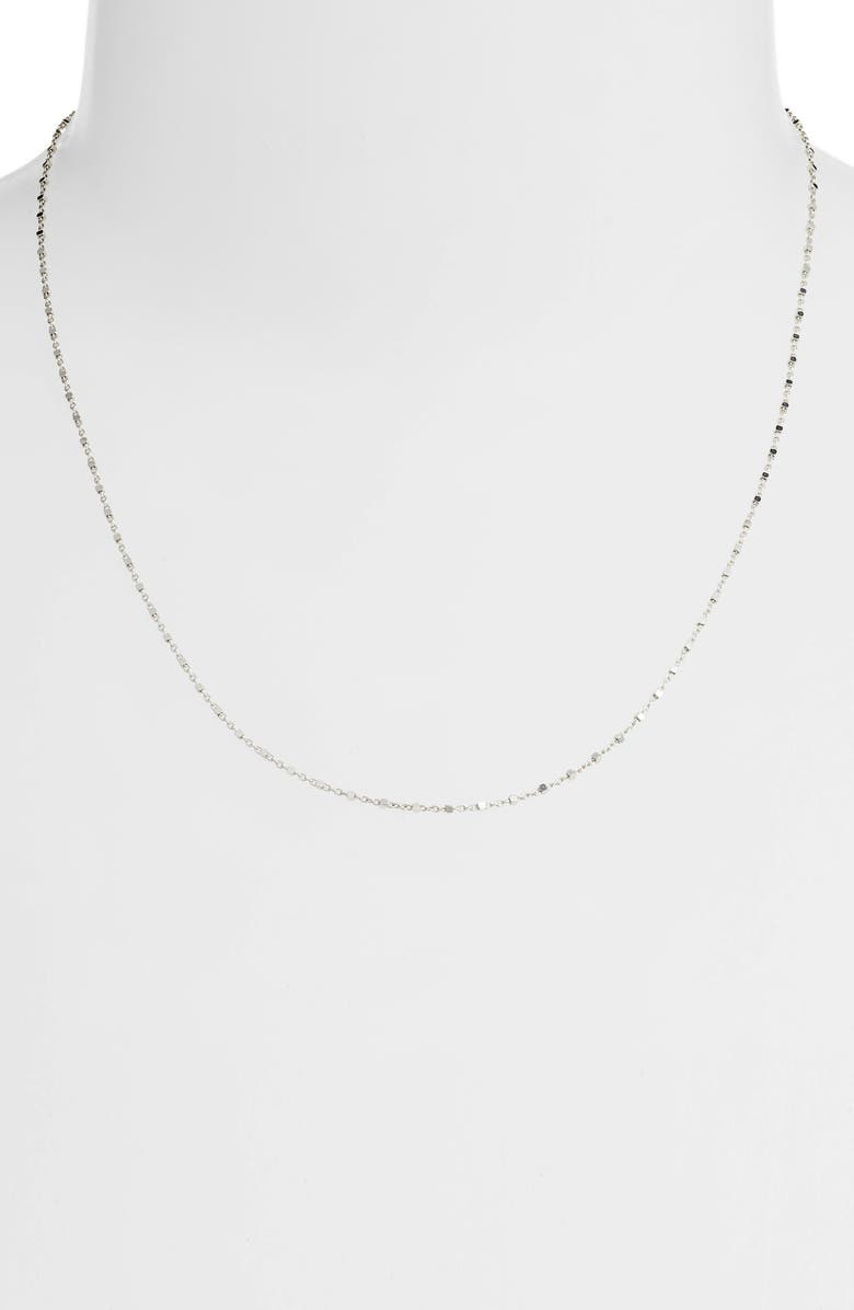 BONY LEVY 14K Gold Beaded Chain Necklace, Main, color, WHITE GOLD