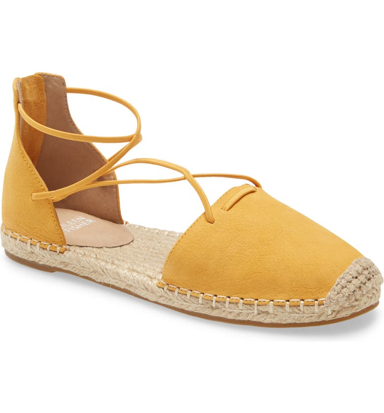 EILEEN FISHER Lace Espadrille, Main, color, OKRA