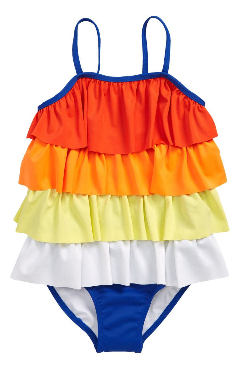 TUCKER + TATE Tiered One-Piece Swimsuit, Main, color, 420